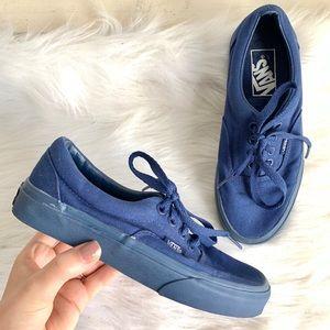 Vans like new cobalt blue sneakers women's size 5